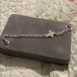 Jewelry - Sterling Silver Cross Toggle Bracelet